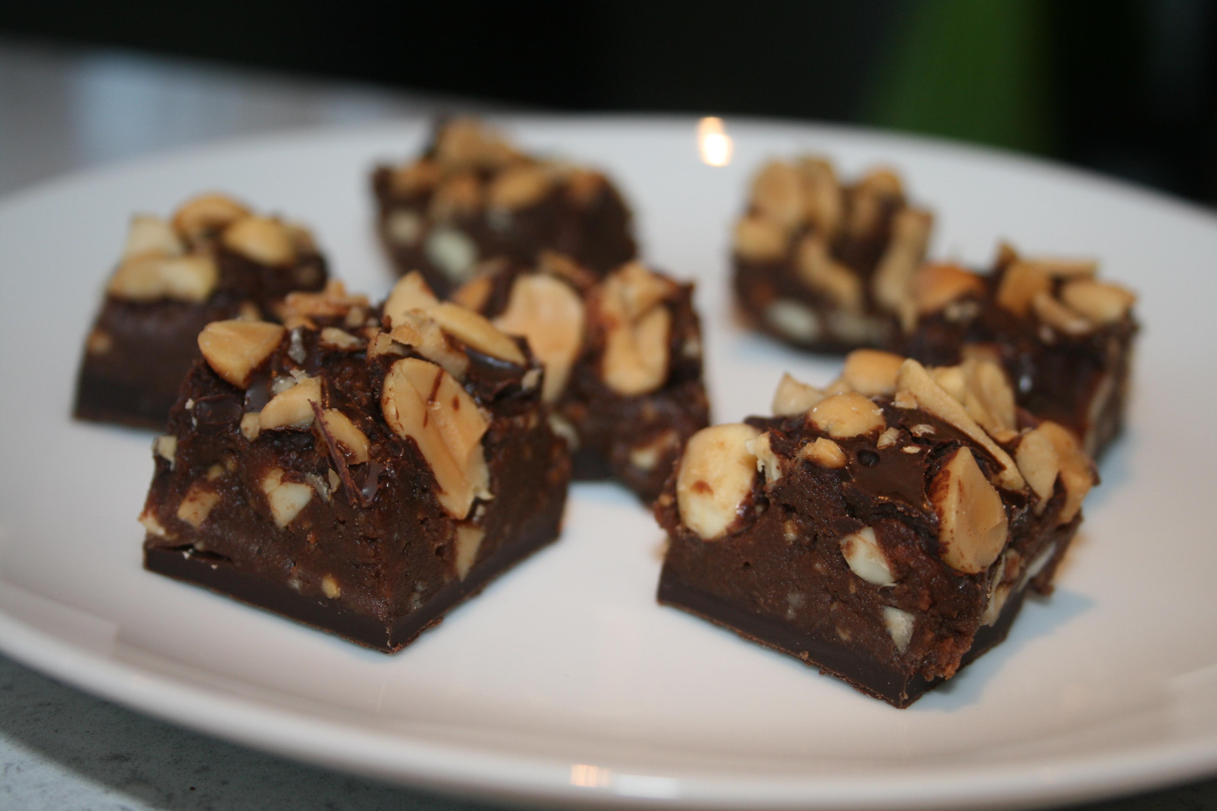 choklad nötter godis